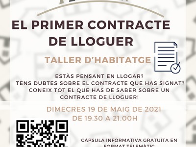 L'Ajuntament ofereix al jovent del municipi un taller sobre els contractes de lloguer