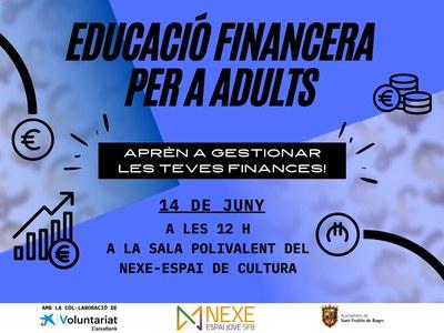 L'Ajuntament ofereix xerrades sobre formació financera bàsica per a joves i adults