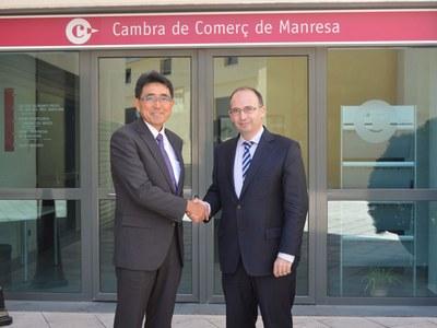 L'alcalde de Sant Fruitós, convidat a la presentació del nou president de Denso Barcelona