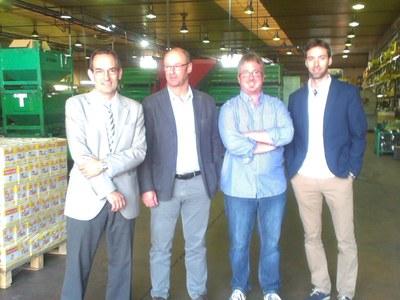 L'alcalde de Sant Fruitós i el regidor d'Indústria visiten l'empresa metal•lúrgica Mikalor