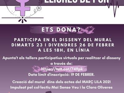 """Les dones del municipi decidiran com serà el mural de la campanya """"Carrers lliures de por"""""""