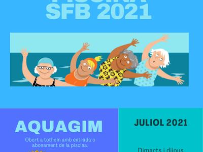 Les piscines municipals ofereixen sessions d'aquagim gratuïtes