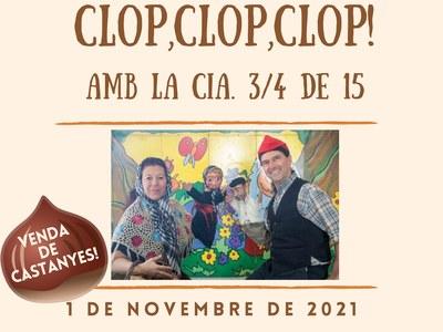 L'espectacle de titelles La Castanyera Cloc, Cloc, Cloc amenitzarà la Castanyada Popular