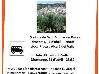 Obert el període d'inscripció per comprar els tiquets de l'autobús pel viatge a Alcalá del Valle