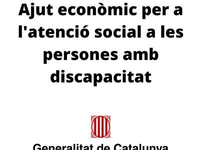 Oberta la convocatòria d'ajuts econòmics per a l'atenció social a les persones amb discapacitat