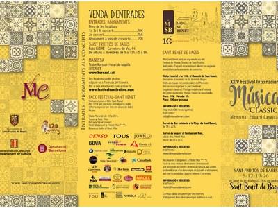 Presentat el Festival Internacional de Música Clàssica
