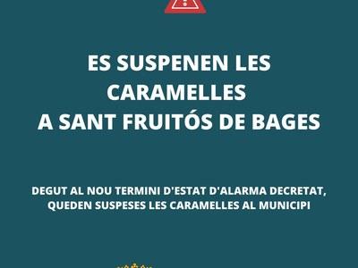 Queden suspeses les Caramelles a Sant Fruitós de Bages
