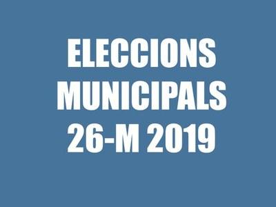 Resultats electorals eleccions municipals i europees 26 de maig de 2019