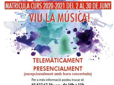 S'obre el període de matriculació de l'Escola de Música i Arts Navarcles - Sant Fruitós