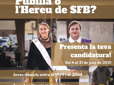 Sant Fruitós de Bages busca els candidats a Pubilla i Hereu del 2021