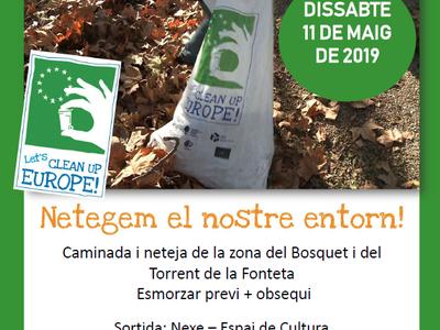 """Sant Fruitós de Bages celebra aquest dissabte la jornada europea """"Clean Up Day"""" amb una sortida de neteja de l'entorn del municipi"""