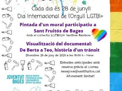 Sant Fruitós de Bages celebrarà el dia de l'Orgull LGTBIQ+ amb la pintada col·lectiva d'un mural i la projecció d'un documental