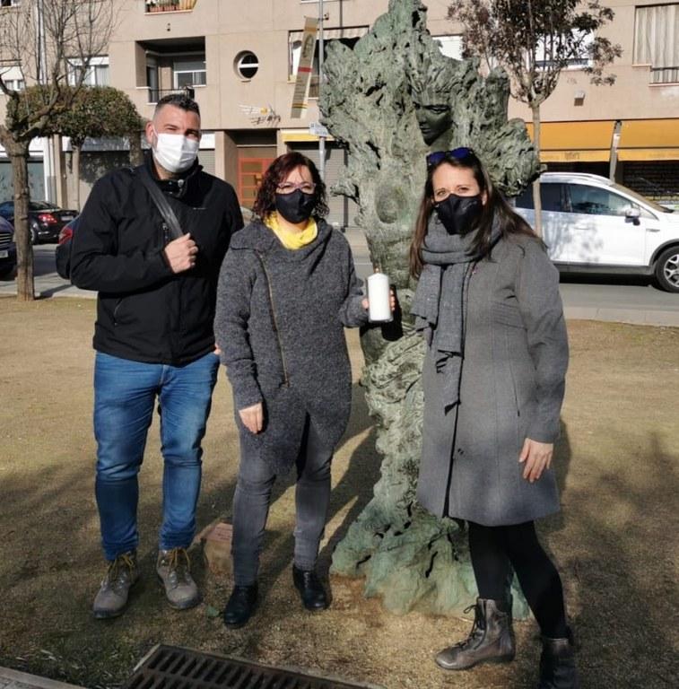 D'esquerra a dreta: David Ruiz, regidor de comunicació, esports i medi ambient,seguretat i turisme, Àdria Mazcuñán, alcaldessa de Sant Fruitós de Bages i Laia Feliu, regidora de sanitat , entitats i cultura i festes