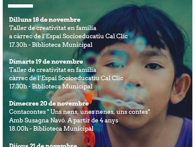 Sant Fruitós de Bages commemorarà el Dia Internacional de la Infància amb 4 jornades de propostes dirigides a les famílies