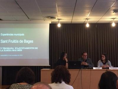 Sant Fruitós de Bages explica el projecte de recuperació de memòria històrica dels deportats santfruitosencs a camps de concentració, en la V Trobada d'Ajuntaments de la Xarxa Mai Més