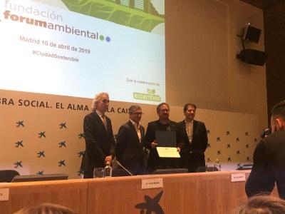 """Sant Fruitós de Bages, finalista en els premis """"Ciudad Sostenible"""" en la categoria d'eficiència i estalvi energètic"""