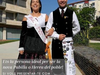 Sant Fruitós de Bages obre el període per presentar candidatures a Pubilla i Hereu del 2019
