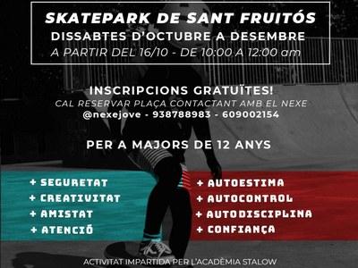 Sant Fruitós de Bages ofereix als joves classes gratuïtes d'iniciació a l'skate