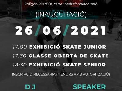 Sant Fruitós de Bages posa en funcionament el primer skatepark del municipi amb una skate party
