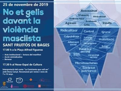 Sant Fruitós de Bages programa una jornada reivindicativa pel proper 25 de novembre, contra la violència en les dones