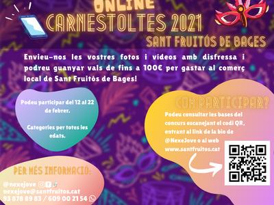 Sant Fruitós de Bages viurà la festa i la disbauxa del Carnestoltes amb un concurs de disfresses virtual