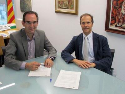 Sant Fruitós i Airpirineus signen un acord per les obres del carrer del cementiri
