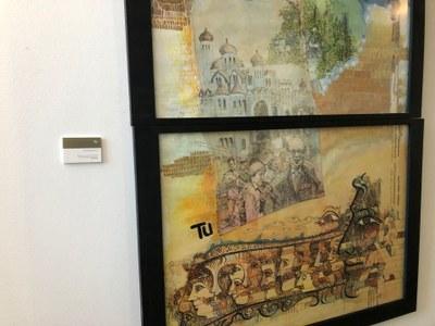 S'identifiquen les obres artístiques que hi ha a l'edifici consistorial