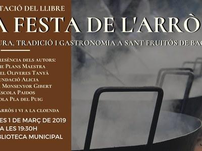 """Surt a la llum el llibre """"La Festa de l'Arròs: cultura, tradició i gastronomia a Sant Fruitós de Bages"""""""