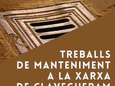 Treballs de manteniment a la xarxa de clavegueram del municipi