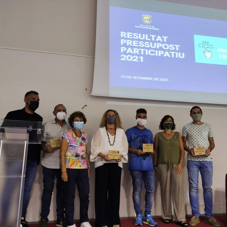Foto de grup dels projectes guanyadors