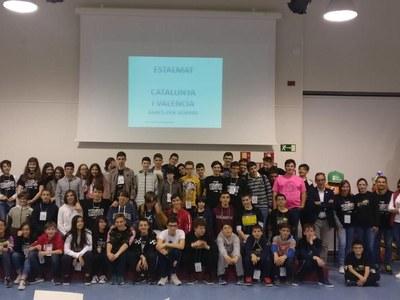 Una seixantena de joves del projecte Estalmat fan parada a Sant Fruitós de Bages